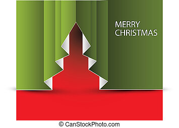 Vector Paper christmas tree