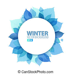 Autumn / winter abstract floral background with place for...