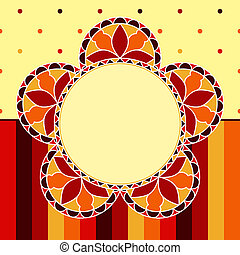 Stained Glass Flower Card
