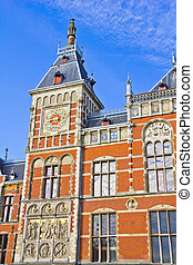 The Amsterdam Central Station