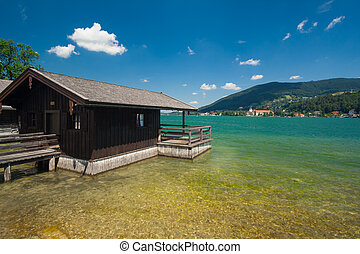 Cottage at Lake Tegernsee near the town Rottach-Egern in...