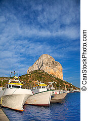 Calpe in alicante with Penon Ifach mountain