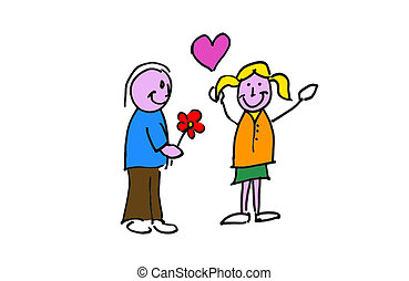 love flower - illustration dun dessin reprŽsentant un...
