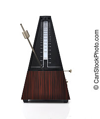 metronome on white background