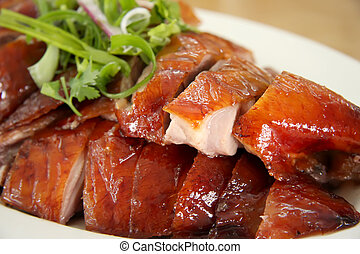 Roast duck slices - Slices of roast duck traditional chinese...