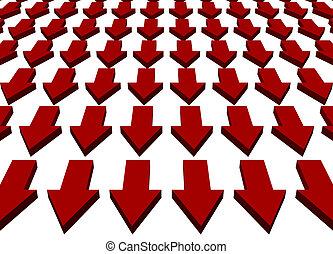 Downward Trend Business Concept Background - Downward Trend...