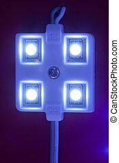 led light module, close-up view