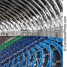 Detail of a Large Sports Facility - Partial view of the...