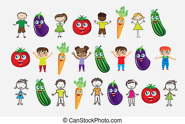 Vegetables and children