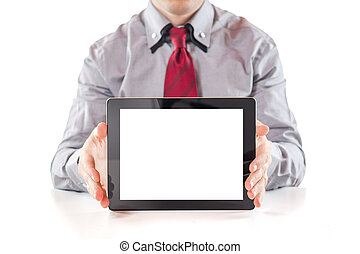young business man executive using a digital pc tablet