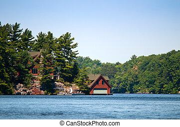 Luxury boathouse