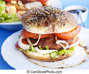 Burger with meat