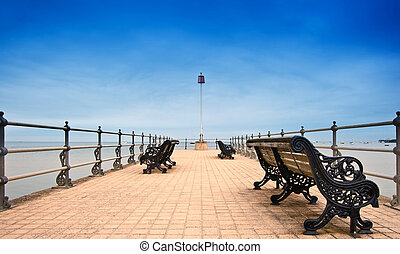 Victorian era pier at English seaside resort - Victorian era...