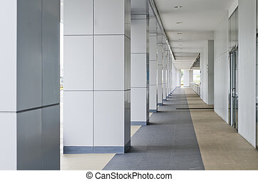 Corridor - Passageway leading to a multi-level building...