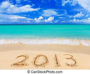 números, 2013, praia