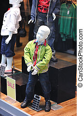Clothing store - Dummy in the clothing store. No brandnames...