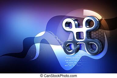 atheist symbol - Digital illustration of atheist symbol in...