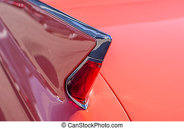 Tail fin of a vintage car