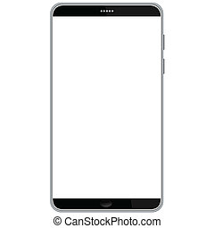 smart-phone - illustration of latest smart phone isolated in...