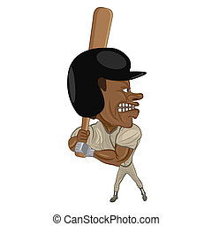 baseball batter - illustration of an angry baseball batter...