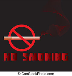 no-smoking - illustration of a no-smoking sign, warning,...