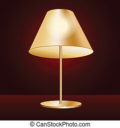 lampshade - illustration of realistic lampshade in dark red...