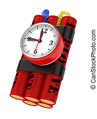 Dynamite Bomb with Clock Timer.