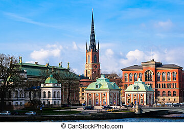 Riddarholmen Church Stockholm - Skyline of Riddarholmen...