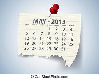 Calendar for 2013 vector