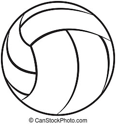 volleyball - illustration of a volleyball outline isolated...