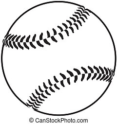 baseball - image of a baseball isolated in white background