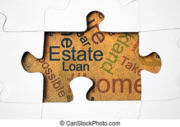 Estate and loan concept