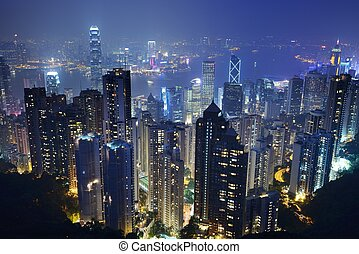 Hong Kong Cityscape - Cityscape of Hong Kong Island from...