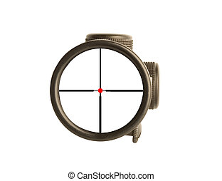 rifle scope - Image of a rifle scope sight used for aiming...