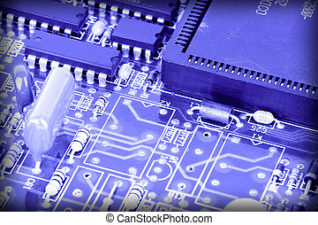 chip - image of chips in a circuit of a component of a...