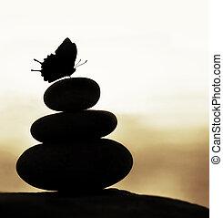 Zen balance stones - Image of zen balance still life,...