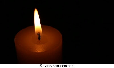 Agitated candle - Burning candle with agitated flame