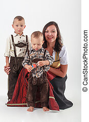 Bavarian mother in costume