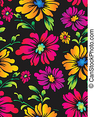 Vector flower background for fabric
