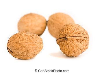 health food walnut snack on isolated background nutshell