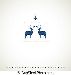 Winter frame background with deers.