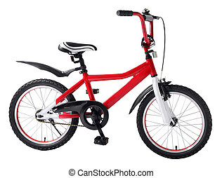childrens bicycle - Childrens bicycle isolated on a white...