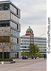 Modern architecture of Dusseldorf Germany