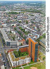 鳥, 光景, 飛行, デュッセルドルフ, 高さ