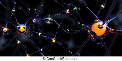 Crystal neurons - Group of crystal neurons 3D in full...