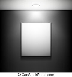Gallery frames - The white frame on a red wall.Vector...