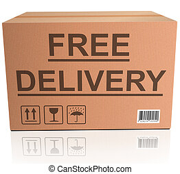 free delivery cardboard box