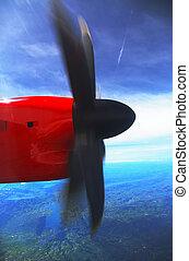 Turboprob Propeller Dash 8 Q400 - a Dah 8 propeller, a...