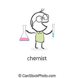 漫画, 人, 化学者