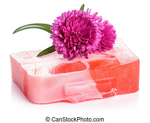 handmade herbal soap isolated